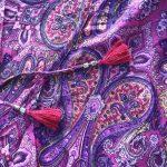 Wickelkleid aus Seide