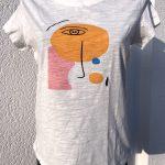 T-Shirt mit Motiv (Gesicht)